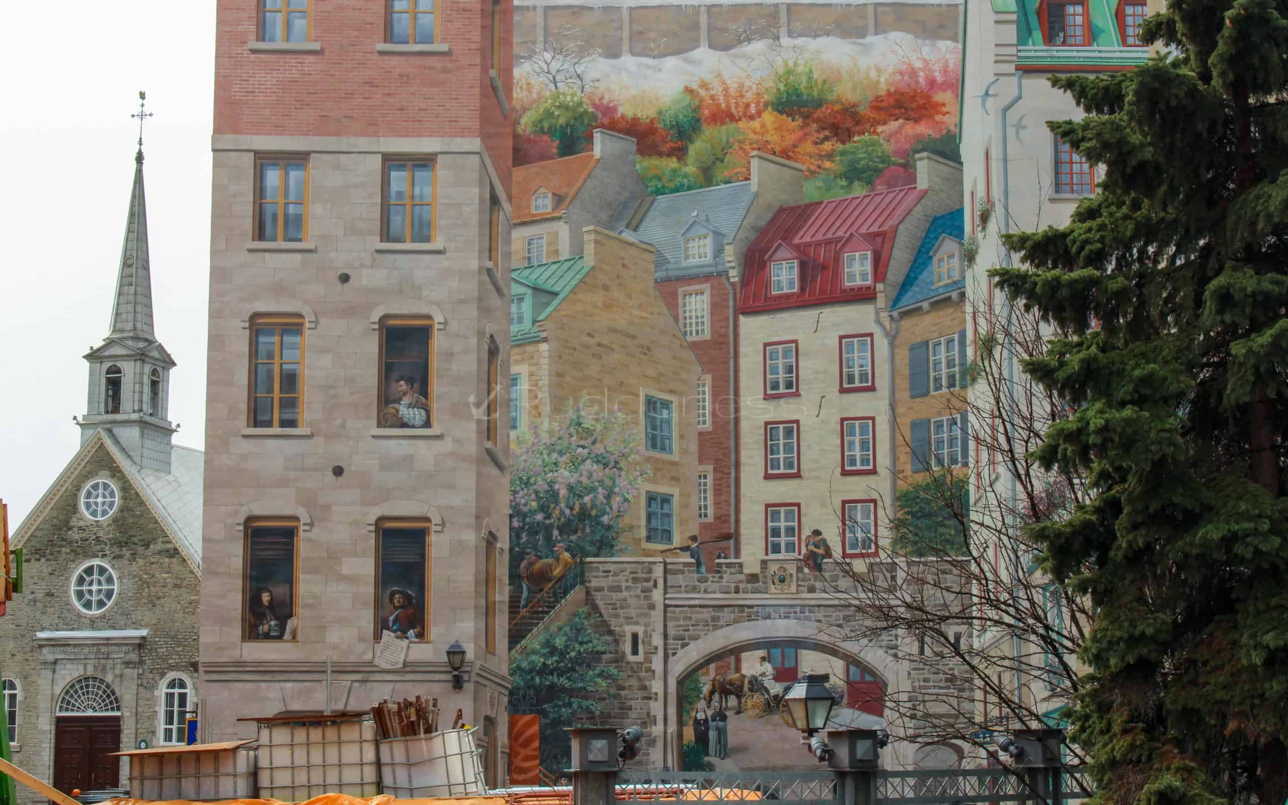 places to visit in quebec city Quebec City Mural