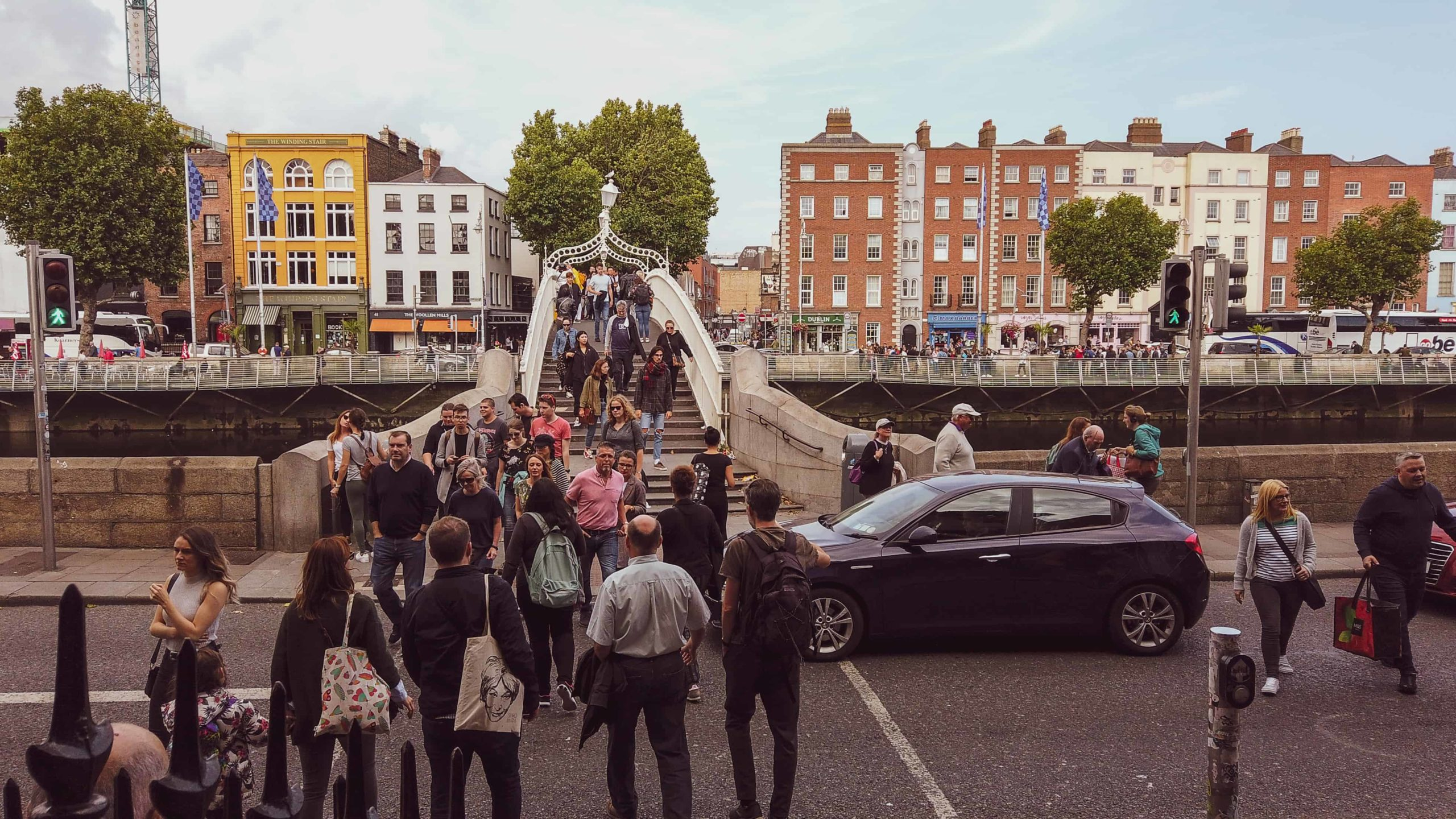 2 days in dublin itinerary - ha penny bridge