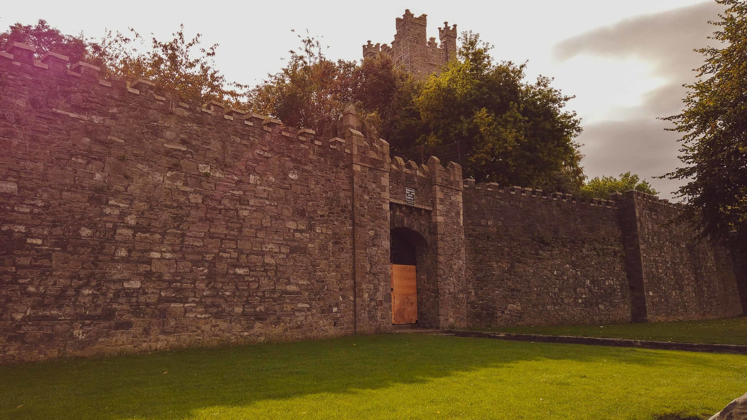 old dublin city wall